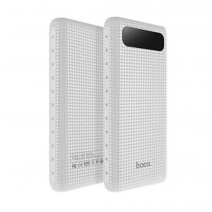 Power Bank Hoco B20A Mige 20000 mAh με 2 Θύρες USB, Φακό και LED Ενδείξεις Λευκό 6957531049654