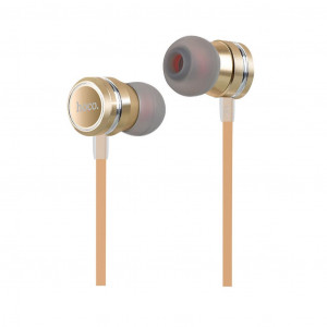 Hands Free Hoco M16 Ling Sound Earphones Stereo 3.5mm Χρυσαφί με Μικρόφωνο και Πλήκτρο Λειτουργίας 6957531051725