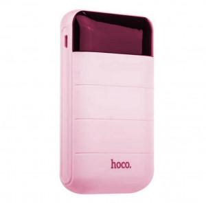 Power Bank Hoco B29 Domon 10000 mAh με 2 USB Θύρες Ροζ 6957531055556