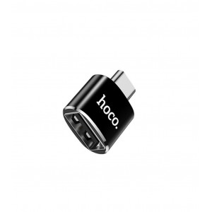 Αντάπτορας Hoco UA5 Type-C σε USB Μαύρο OTG 2.4A 6957531064121