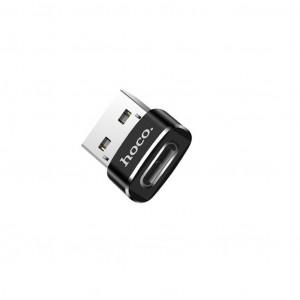 Αντάπτορας Hoco UA6 USB σε Type-C Μαύρο 6957531064138