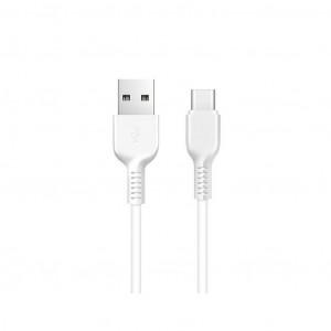 Καλώδιο σύνδεσης Hoco X20 Flash USB σε Type-C Λευκό 2m 6957531068914