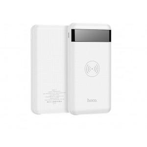 Ασύρματο Power Bank Hoco J11 10000 mAh με υποδοχές Micro-USB, Type-C, Lightning και 2 USB Output Λευκό 6957531070221