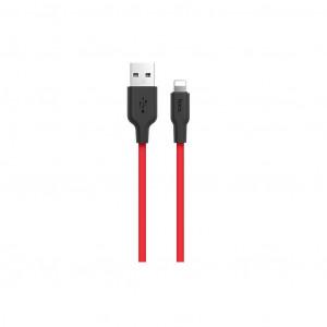 Καλώδιο Σύνδεσης Hoco X21 Σιλικόνης USB σε Lightning 2.0A Fast Charging 1μ. Μαύρο - Κόκκινο 6957531071372