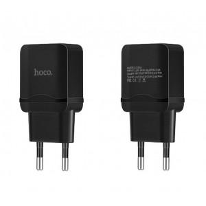 Φορτιστής Ταξιδίου Hoco C33A Superior Dual USB Fast Charging 5V 2.4A Μαύρος 6957531072072