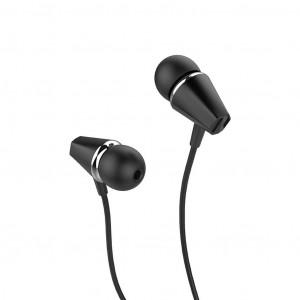 Hands Free Hoco M34 Earphones Stereo 3.5 mm Μαύρο με Μικρόφωνο και Πλήκτρο Λειτουργίας 6957531078456