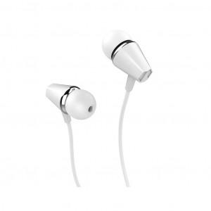 Hands Free Hoco M34 Earphones Stereo 3.5 mm Λευκό με Μικρόφωνο και Πλήκτρο Λειτουργίας 6957531078463