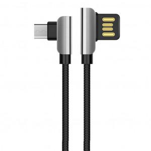 Καλώδιο σύνδεσης Hoco U42 Exquisite Steel USB σε Micro-USB Fast Charging 2.4A Μαύρο 1.2 μ. 6957531079378