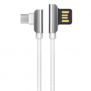 Καλώδιο σύνδεσης Hoco U42 Exquisite Steel USB σε Micro-USB Fast Charging 2.4A Λευκό 1.2 μ. 6957531079385