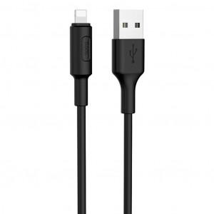 Καλώδιο σύνδεσης Hoco X25 για iPhone/iPad/iPod Lightning 1.0 μ. Μαύρο 6957531080107