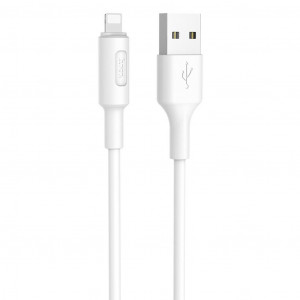 Καλώδιο σύνδεσης Hoco X25 για iPhone/iPad/iPod Lightning 1.0 μ. Λευκό 6957531080114