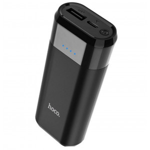 Power Bank Hoco B35A Entourage Mobile 5200 mAh Fast Charging με υποδοχή Micro-USB Μαύρο 6957531081548
