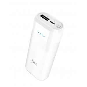 Power Bank Hoco B35A Entourage Mobile 5200 mAh Fast Charging με υποδοχή Micro-USB Λευκό 6957531081555