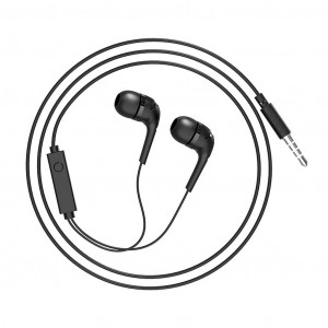 Hands Free Hoco M40 Prosody Earphones Stereo 3.5mm Μαύρα με Μικρόφωνο και Πλήκτρο Λειτουργίας 6957531084563