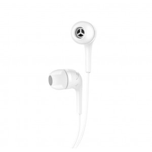 Hands Free Hoco M40 Prosody Earphones Stereo 3.5mm Λευκά με Μικρόφωνο και Πλήκτρο Λειτουργίας 6957531084570