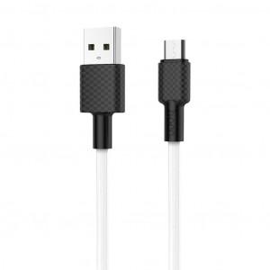 Καλώδιο σύνδεσης Hoco X29 Superior Style USB σε Micro-USB Fast Charging 2A Λευκό 1μ 6957531089742