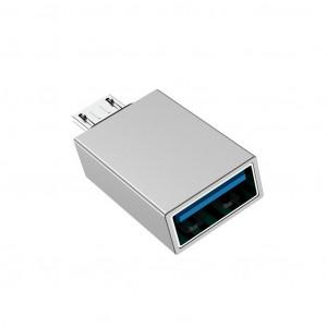 Αντάπτορας Borofone BV2 USB σε Micro USB Ασημί 6957531090311