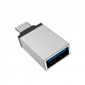 Αντάπτορας Borofone BV3 USB σε Type-C Ασημί 6957531090328