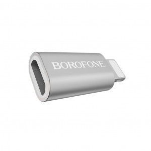 Αντάπτορας Borofone BV5 Micro Usb σε Lightning Ασημί 6957531090342