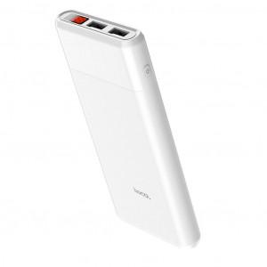Power Bank Hoco B35C Entourage Mobile 12000 mAh Fast Charging με υποδοχή Micro-USB και 2 Θύρες USB Λευκό 6957531090939