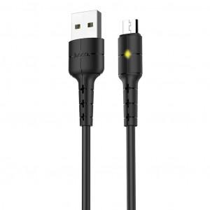 Καλώδιο σύνδεσης Hoco X30 USB σε Micro USB Μαύρο με LED Ένδειξη 1.2 μ. 6957531091141