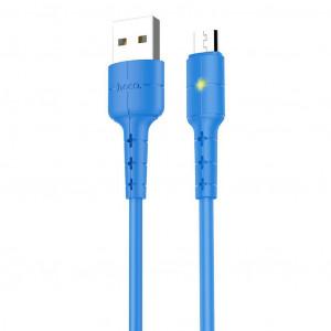 Καλώδιο σύνδεσης Hoco X30 USB σε Micro USB Μπλε με LED Ένδειξη 1.2 μ. 6957531091165