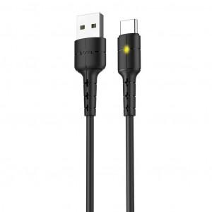 Καλώδιο σύνδεσης Hoco X30 USB σε Type-C Fast Charging 2.0A Μαύρο με LED Ένδειξη 1,2 μ. 6957531091172