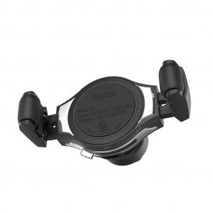 Βάση Στήριξης Αεραγωγού Αυτοκινήτου Hoco S1 με Wireless Charger 10W Ασημί 6957531091240