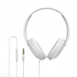 Ακουστικά Stereo Borofone BO1 EnjoyBass Λευκά με μικρόφωνο με δερμάτινες λεπτομέρειες 6957531091318