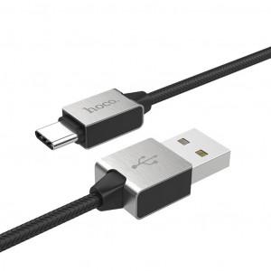 Καλώδιο σύνδεσης Κορδόνι Hoco U49 USB σε Type-C με Ενισχυμένες Μεταλλικές Επαφές 1.2 μ. Μαύρο 6957531091363