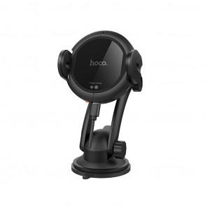 Βάση Στήριξης Αυτοκινήτου και Αεραγωγού Hoco CA35 Plus Μαύρη με Fast Wireless Charger 10W 6957531091547