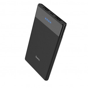 Power Bank Hoco B35D Entourage Mobile 5000 mAh Fast Charging με υποδοχή Micro-USB και 2 Θύρες USB Μαύρο 6957531093473