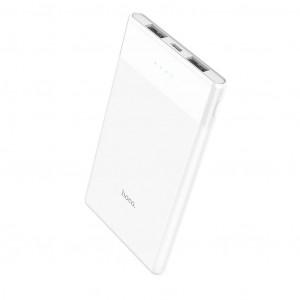 Power Bank Hoco B35D Entourage Mobile 5000 mAh Fast Charging με υποδοχή Micro-USB και 2 Θύρες USB Λευκό 6957531093480