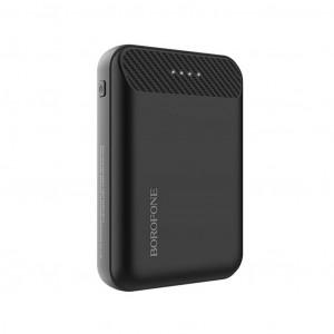 Power Bank Borofone BT17 RayPower Mini 10000mAh Micro USB Input & Dual USB 5V/2A Output Fast Charging και ένδειξη LED Μαύρο 6957531094081