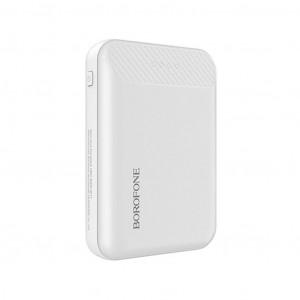 Power Bank Borofone BT17 RayPower Mini 10000mAh Micro USB Input & Dual USB 5V/2A Output Fast Charging και ένδειξη LED Λευκό 6957531094098