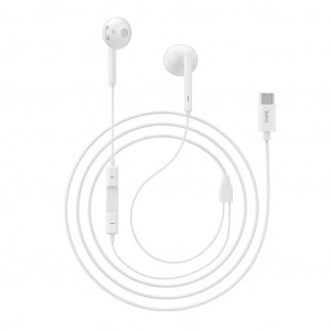Hands Free Hoco L10 Earphones Stereo Type-C Λευκά με Μικρόφωνο και Πλήκτρο Λειτουργίας 6957531099840