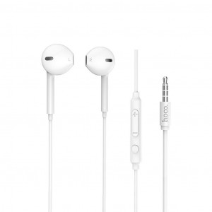Hands Free Hoco M55 Earphones Stereo 3.5 mm Λευκά με Μικρόφωνο και Πλήκτρο Λειτουργίας 6957531099932