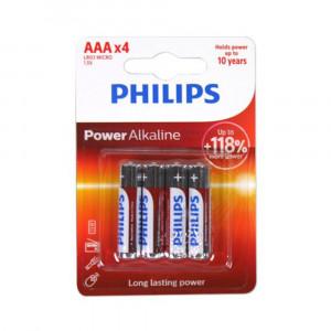 Μπαταρία Αλκαλική Philips Power Alkaline LR03 size AAA 1.5 V Τεμ. 4 6959033840012