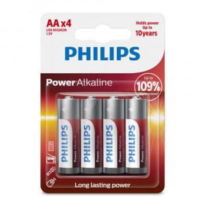 Μπαταρία Αλκαλική Philips Power Alkaline LR6 size AA 1.5 V Τεμ. 4 6959033840029
