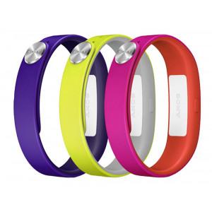 Sony SmartBand Wrist Strap SWR110 Purple, Yellow, Pink 7311271461173