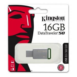 USB 3.1 Gen 1 Kingston Data Traveler 50 16GB Metal Frame DT50/16GB 740617255638