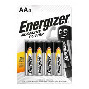 Μπαταρία Αλκαλική Energizer Alkaline Power LR6 size AA 1.5V Τεμ. 4 7638900246599