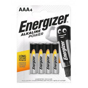 Μπαταρία Αλκαλική Energizer Alkaline Power LR03 size AAA 1.5V Τεμ. 4 7638900247893