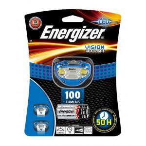 Φακός Κεφαλής Energizer Vision 2 Led 100 Lumens με Μπαταρίες AAA 3 Τεμ. Μπλέ 7638900270228