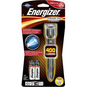 Φακός Energizer Vision HD Focus 400 Lumens με LED φακό και Μεταλλικό Σώμα Ασημί 7638900313130