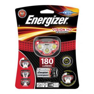 Φακός Κεφαλής Energizer Vision HD 3 Led 180 Lumens με Μπαταρίες AAA 3 Τεμ. Κόκκινο 7638900316377
