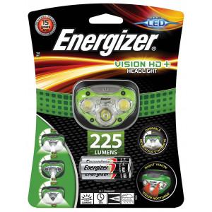 Φακός Κεφαλής Energizer Vision HD+ 3 Led 225 Lumens με Μπαταρίες AAA 3 Τεμ. Πράσινο 7638900316384