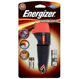 Φακός Energizer Impact Rubber 1 Led 60 Lumens με Μπαταρίες AAA 2 Τεμ. Μαύρο 7638900326307