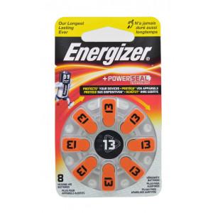 Μπαταρίες Ακουστικών Βαρηκοΐας Energizer Zinc Air 13 1.4V Τεμ. 8 7638900349221