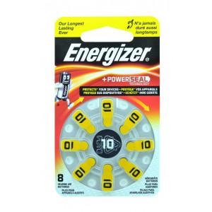 Μπαταρίες Ακουστικών Βαρηκοΐας Energizer Zinc Air 10 1.4V Τεμ. 8 7638900349238